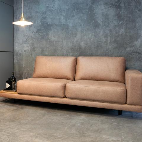 sala sofá color crema